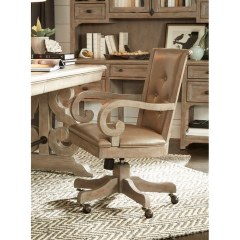 Tinley Park Traditional Upholstered Office Swivel Chair