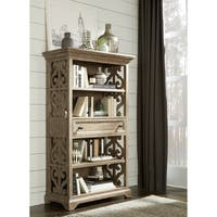 Tinley Park Traditional Dove Tail Grey Bookcase