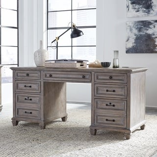 Lancaster Traditional Dove Tail Grey Executive Desk