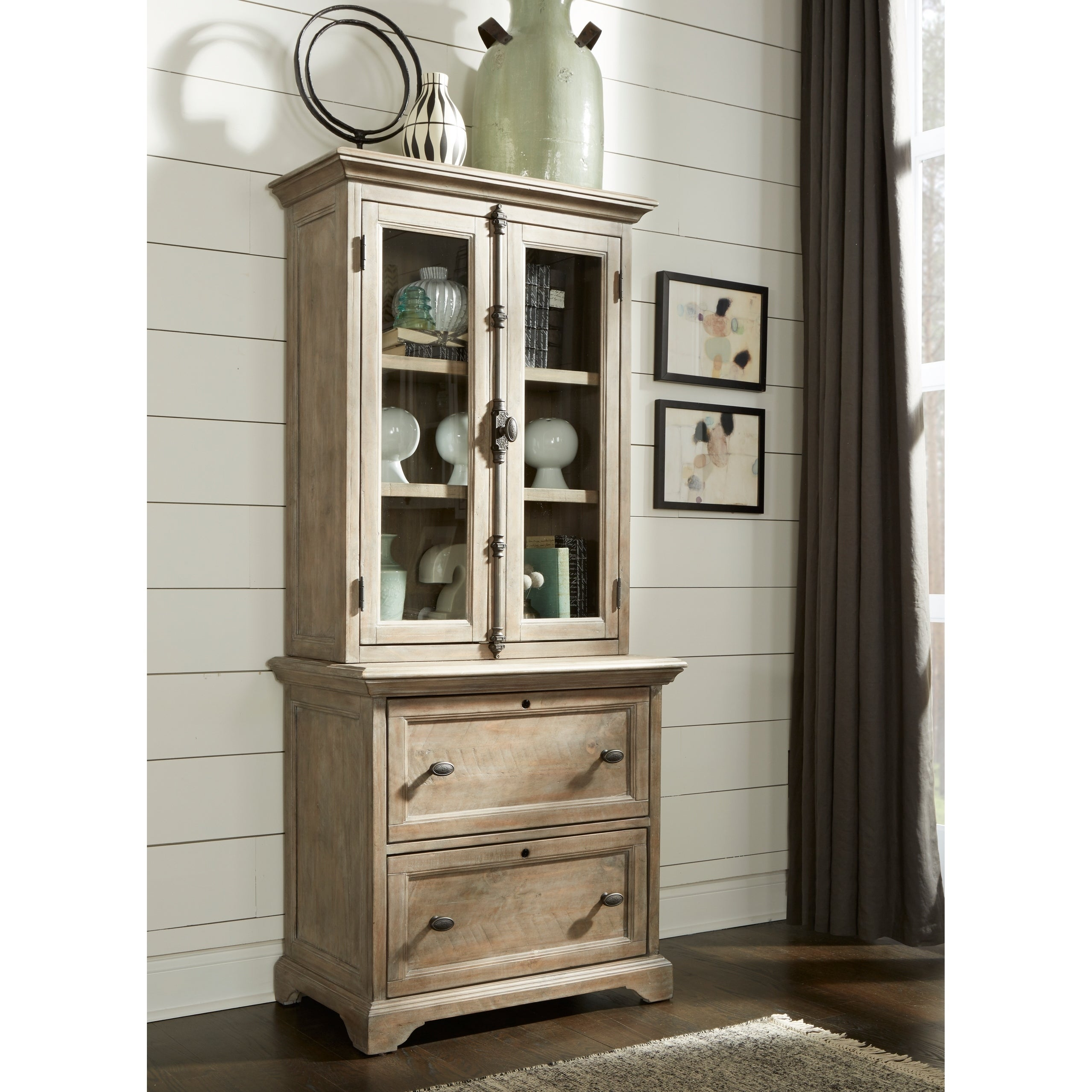 Tinley Park Traditional Locking Lateral File with Hutch