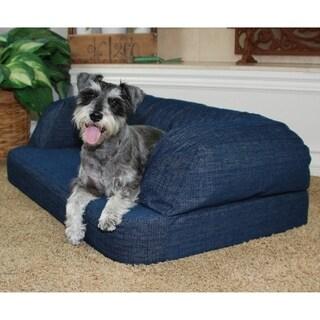 Premium Memory Foam Orthopedic Dog Pet Bed Sofa Lounger with Bolster