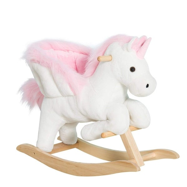 Rock My Baby Pink Rocking Unicorn Rocking Horse Plush Stuffed