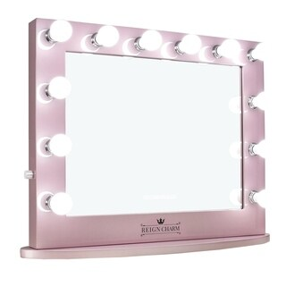 ReignCharm Hollywood Vanity Mirror Rose Gold Pink