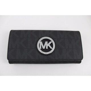 Michael Kors Fulton Carryall PVC Signature Flap Continental Wallet