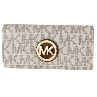 Michael Kors Fulton Carryall PVC Signature Flap Continental Wallet