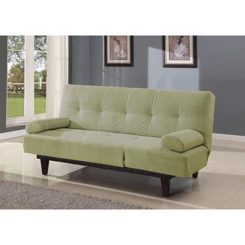 Patel Adjustable Sofa w/2 Pillows (Green)