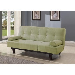 Patel Microfiber Adjustable Twin-size Sofa Bed with 2 Pillows