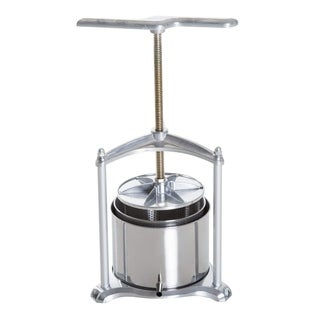 HomCom 1.4 Gallon Stainless Steel Cold Press Juicer Manual Wine Press Machine - Silver