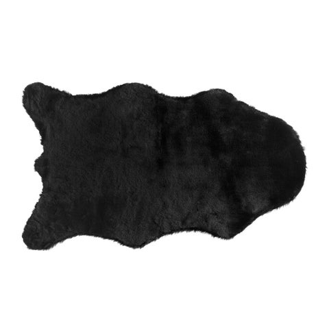 Fake Rabbit Fur Accent Area Rug - Ultra Soft with Faux Suede Backing - Polyester - 2x3 Single Pelt Short Pile Sheepskin