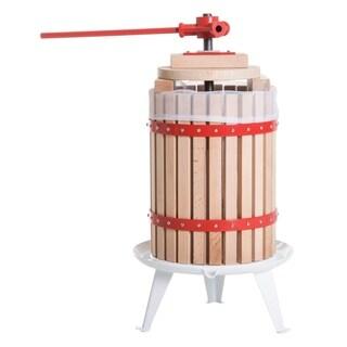 HomCom 4.75 Gallon Cold Press Wooden Manual Juicer Wine Press Machine