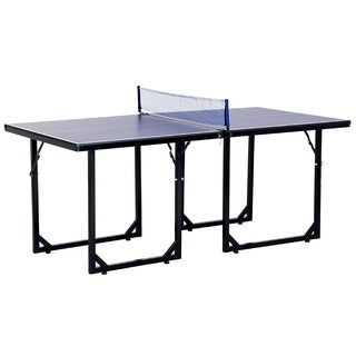 "Aosom 72"" Folding Compact Multi-Use Table Tennis Table with Net and Post"