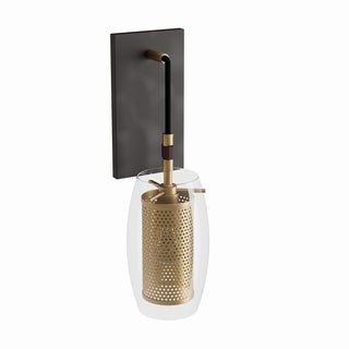 Carson Carrington Skudeneshavn 1-light Warm Brass Sconce with Bronze Accents
