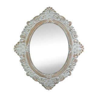 Accent Plus Vintage Amelia Taupe Mirror - Distressed Finish