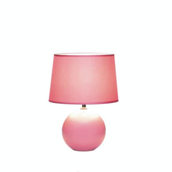 Shop Gallery Of Light Pink Round Ceramic Base Table Lamp Free