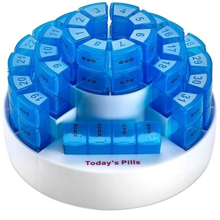 MEDca Monthly Pill Box Removable Compartments