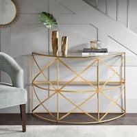 Madison Park Susie Gold Console Table