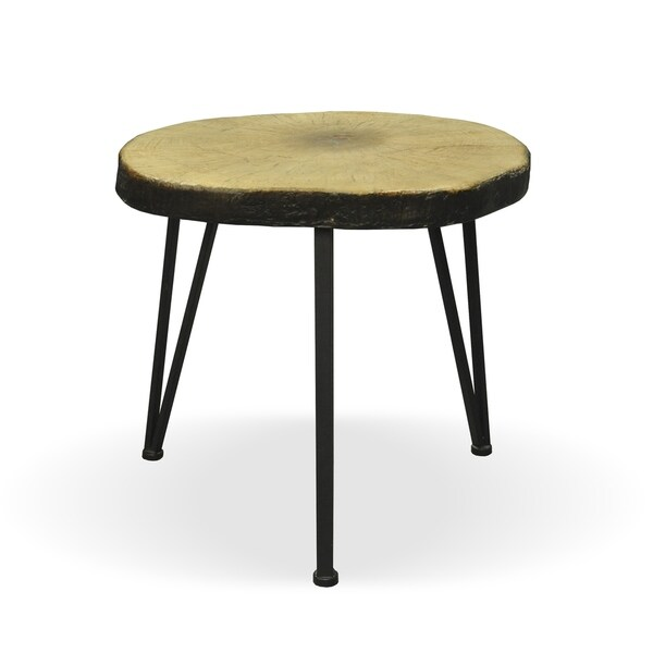 Tyrell Industrial Light Weight Concrete Side Table By Christopher - Industrial concrete side table