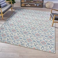 Breccan Indoor Floral Area Rug by Christopher Knight Home - 7'10 x 10'