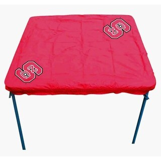 Rivalry NCAA North Carolina State Wolfpack Sports Team Logo Card Table Cover