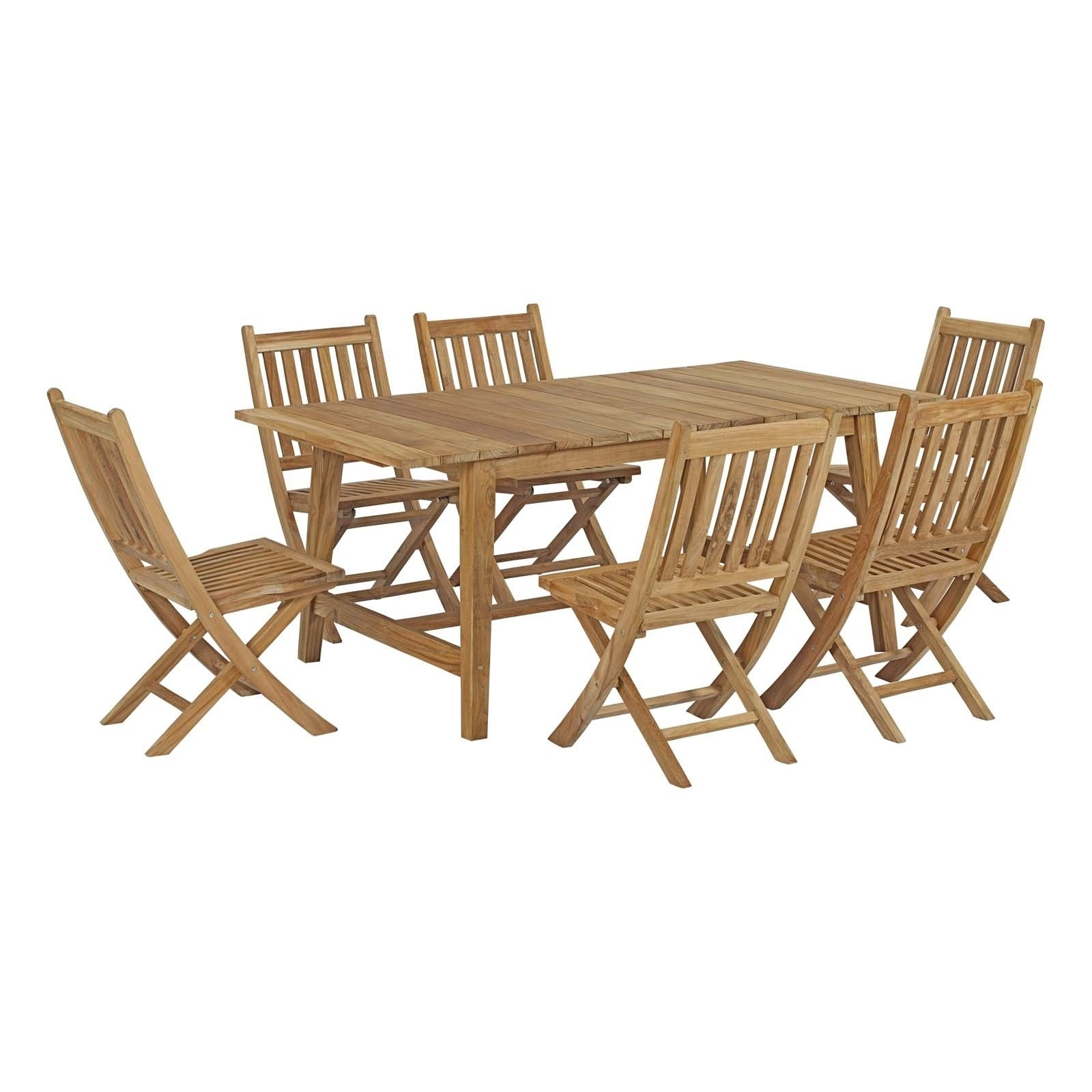 Havenside Home Pocasset 7-piece Patio Teak Outdoor Dining Set