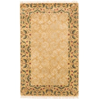 eCarpetGallery Hand Tufted Aurora Light Gold, Light Khaki Wool Rug - 5'2 x 8'2
