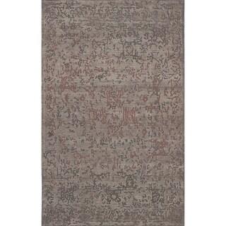 eCarpetGallery Hand Tufted Elina Grey Wool Rug - 5'0 x 8'0