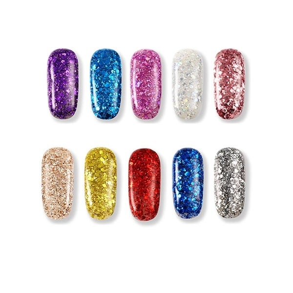 M.B.S Nail Art Glitter Powder - Multi-color - N/A - Free Shipping On ...