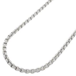 Authentic 14k White Gold 2 5mm Round Box Cable Rolo Link Necklace Chain 16 24