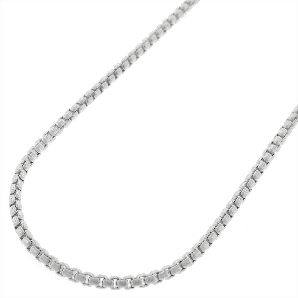 Sterling Silver Womens 1mm Box Chain Small Costume Ball Or Mardi Gras Mask Pendant Necklace