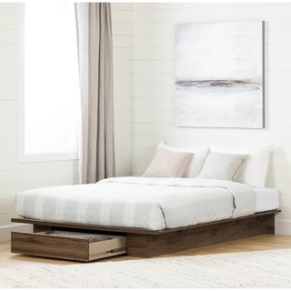 South Shore Tao Platform Bed with Drawer Size - Full/Queen