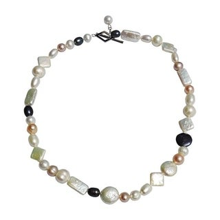 Mixed Pearls in Mixed Colors Necklace - 17 Inch