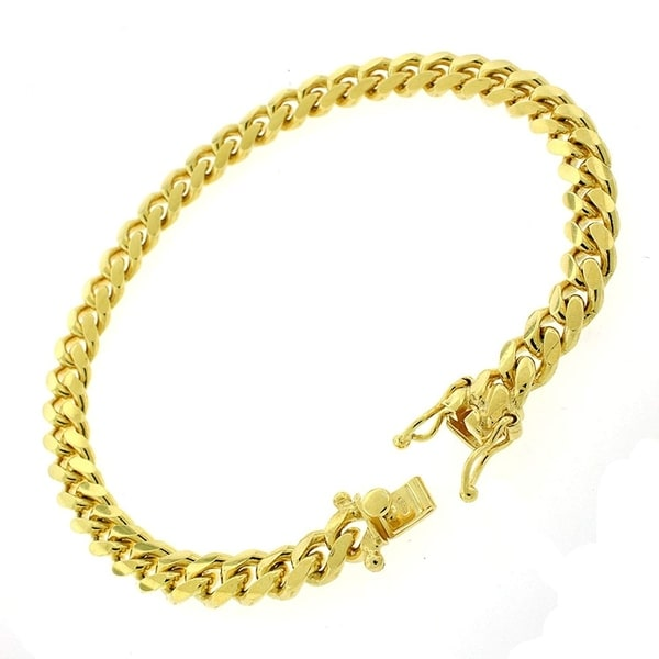 2fb246fc2b189 Authentic 14k Yellow Gold 7mm Solid Miami Cuban Curb Link Thick Necklace  Chain 9