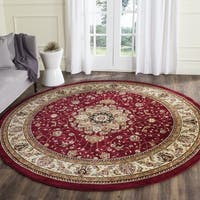 Safavieh Lyndhurst Traditional Oriental Red/ Ivory Rug - 5' 3 Round