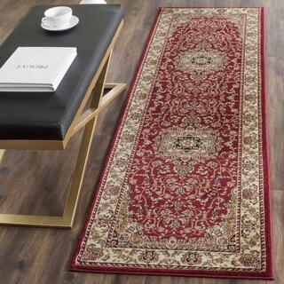 "Safavieh Lyndhurst Traditional Oriental Red/ Ivory Runner (2'3 x 8') - 2'3"" x 8'"