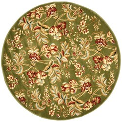 Safavieh Lyndhurst Traditional Floral Sage Rug (5' 3 Round)