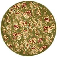 """Safavieh Lyndhurst Traditional Floral Sage Rug - 5'3"""" x 5'3"""" round"""