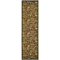 "Safavieh Lyndhurst Traditional Floral Sage Runner Rug - 2'3"" x 12'"