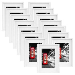 15 Pack - 11x14 White Picture Frames - Made to Display Pictures 8x10 Inches with Mat or 11x14 Inches Without Mat
