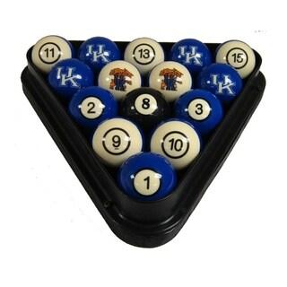 Wave 7 Technologies NCAA Kentucky Wildcats Sports Team Logo Officially Licensed Billiard Ball Set - Numbered