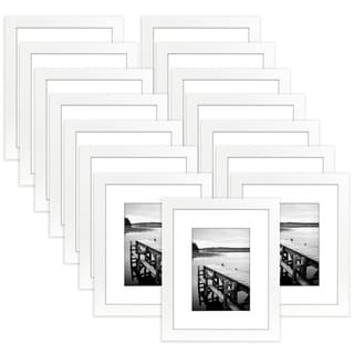 Americanflat 15 Pack - 8x10 White Picture Frames - Made to Display Pictures 5x7 Inches with Mat or 8x10 Inches without Mat
