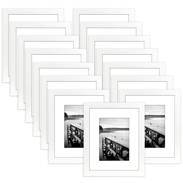 Shop 15 Pack - 8x10 White Picture Frames - Made to Display Pictures ...