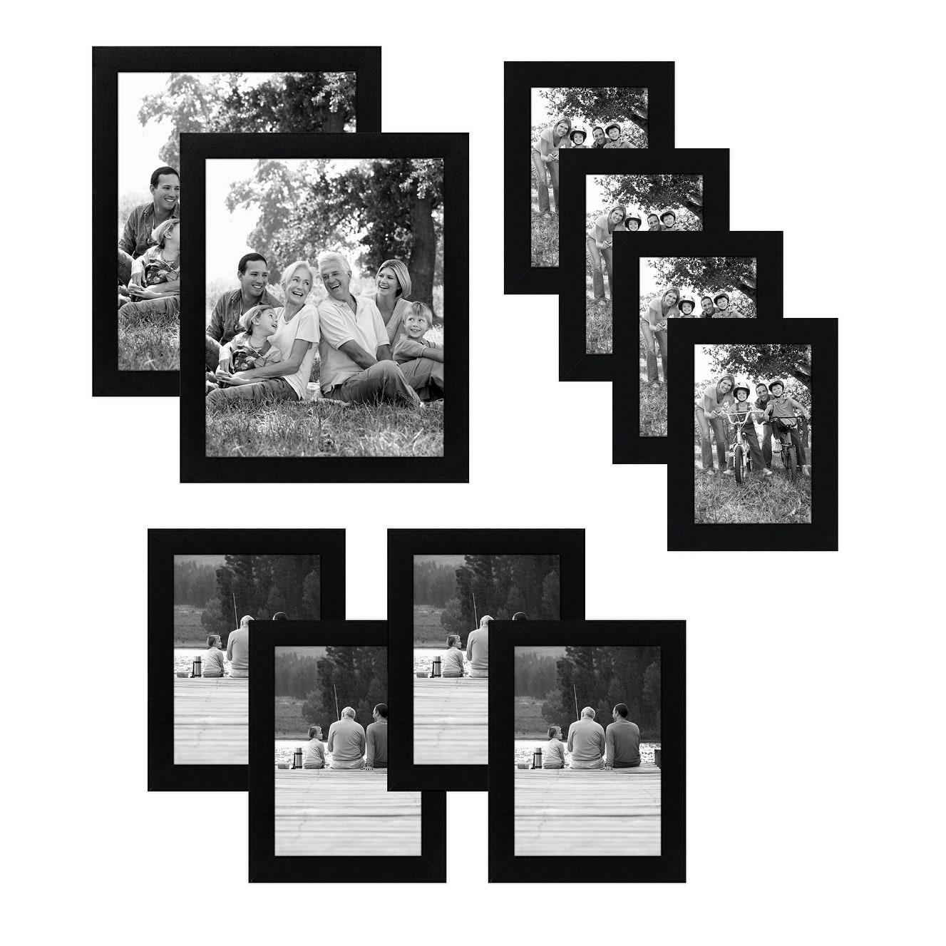 Americanflat 10 Piece Multipack Black Frames Includes Two 8x10 Frames Four 5x7 Frames And Four 4x6 Frames Overstock 22416519