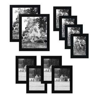 Link to Americanflat 10-Piece Multipack Black Frames - Includes Two 8x10 Frames, Four 5x7 Frames, and Four 4x6 Frames Similar Items in Decorative Accessories