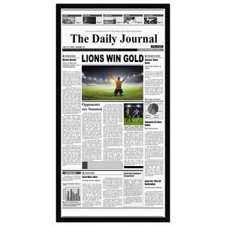 11x22 Newspaper Frame - Assorted Media Cover Frame - Hanging Hardware Included