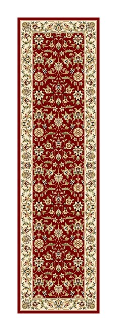 Safavieh Lyndhurst Traditional Oriental Burgundy/ Ivory Runner (2'3 x 8')