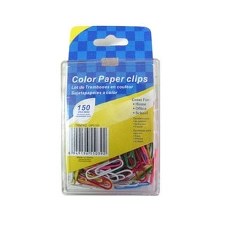 Bulk Buys Colored Paper-Clips - Pack of 24