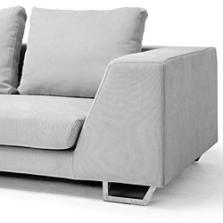 Metropolitan large grey sectional sofa with chaise free for Metropolitan sectional sofa chaise