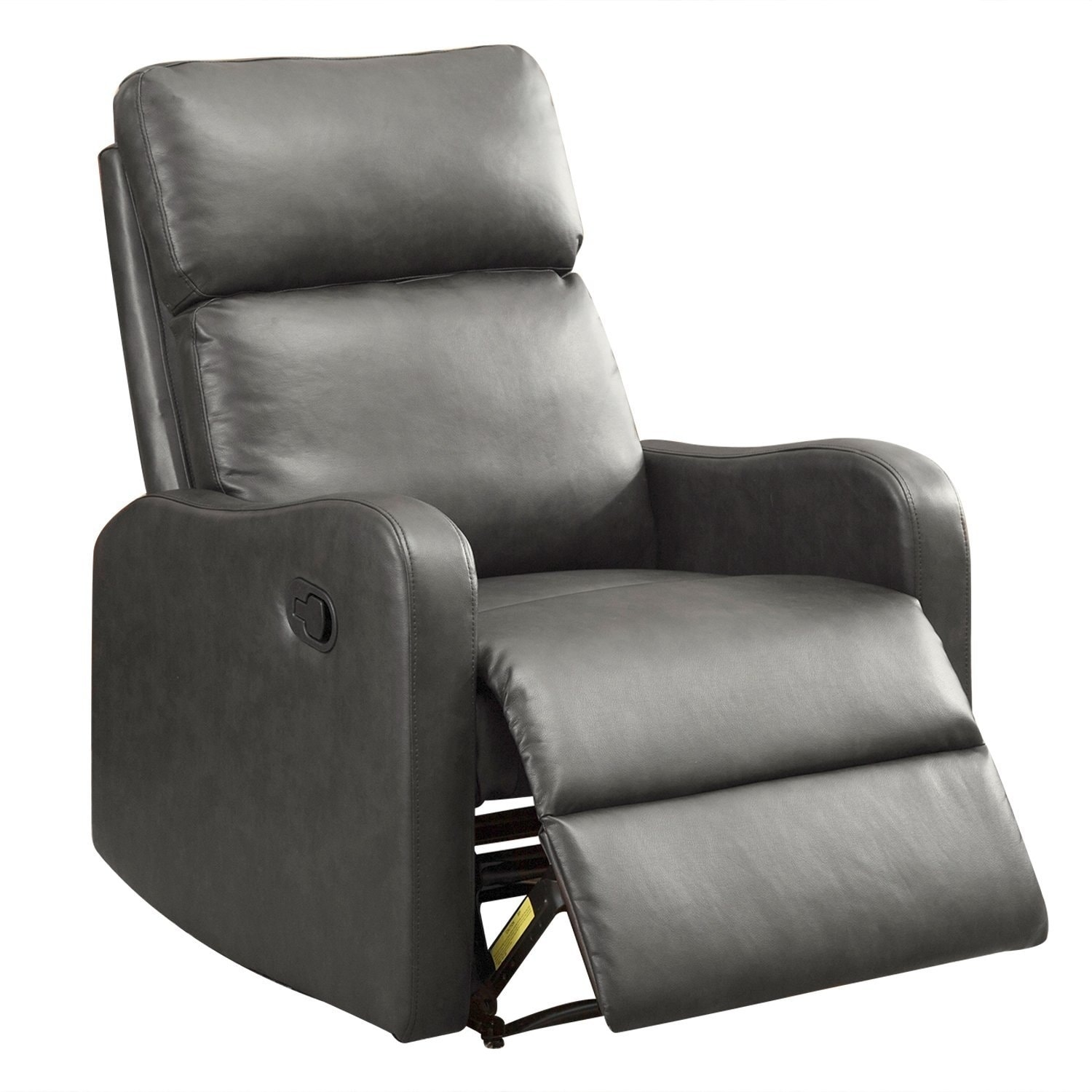 BONZY Recliner Chair Leather Recliner Chair Contemporary Dark Gray