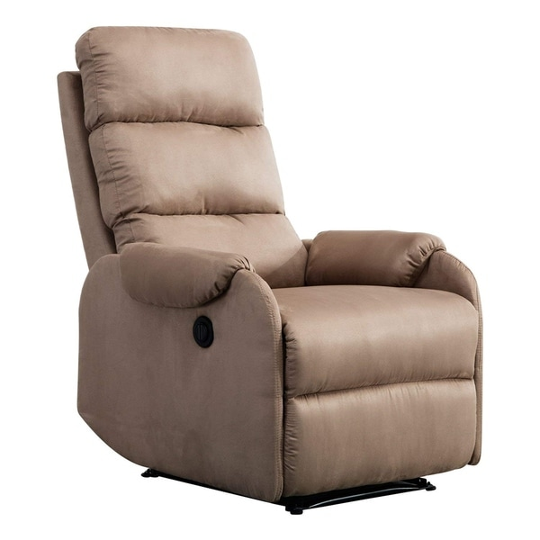Shop Bonzy Power Recliner Chair With Suede Cover Gentle