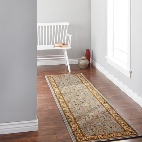 Safavieh Lyndhurst Traditional Oriental Light Blue/ Ivory Runner (2'3 x 8')